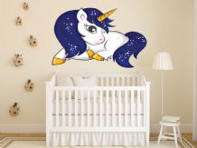 FULL COLOUR Unicorn Wall Art, Fantasy, 3D Sticker,  Modern Transfer,  PVC Decal